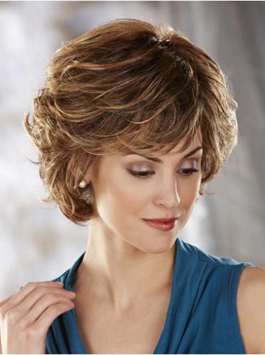 Capless Short Layered Wavy Synthetic Wigs For Sale