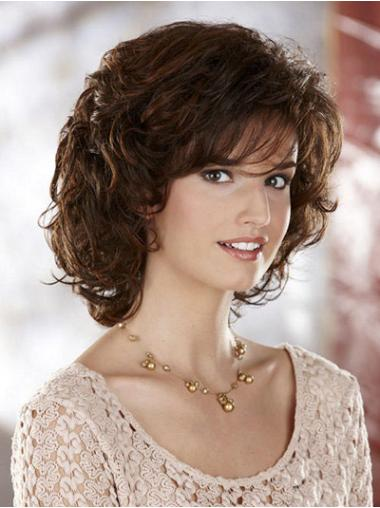 Hairstyles Chin Length Layered Curly Synthetic Wigs To Order