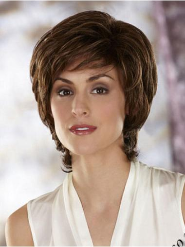 Top Chin Length Layered Wavy Capless Synthetic Heat Friendly Wigs