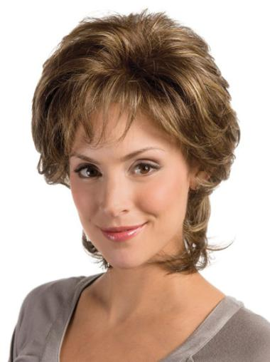 Brown Synthetic Wavy New Classic Cheap Lace Front Wigs