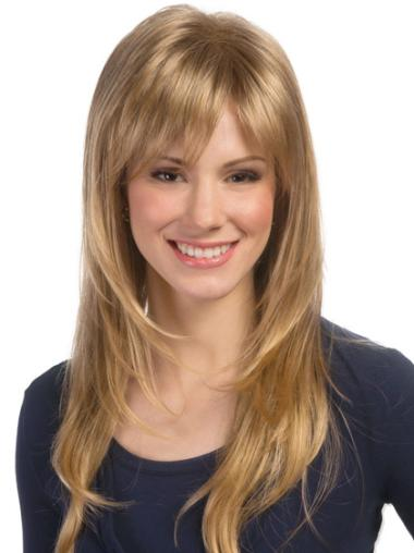 Wavy Long Trendy Blonde Lace Front Synthetic Wig