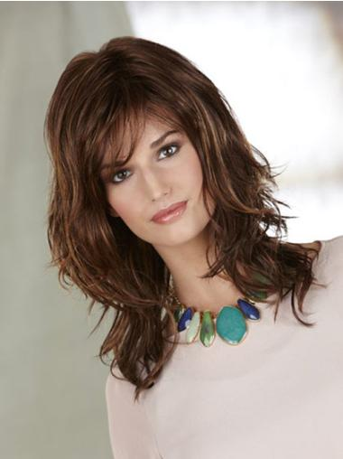 Capless Layered Shoulder Length Durable Heat Friendly Synthetic Wigs