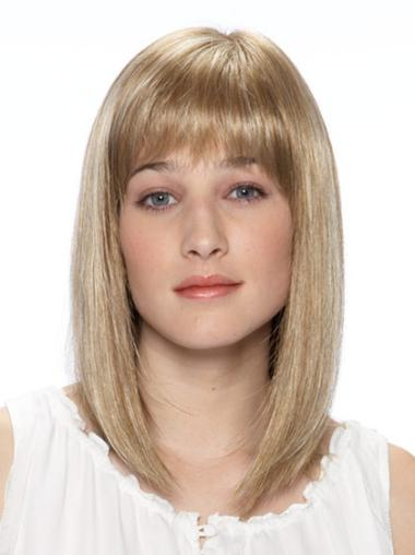 Lace Front Bobs Shoulder Length Natural Synthetic Wig