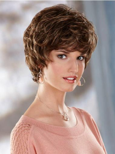 Brown Wavy Capless Ideal Classic Wigs For Sale Synthetic