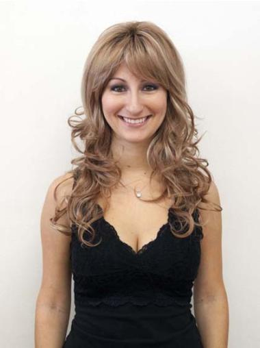 Style Lace Front Wavy Layered Synthetic Long Blonde Wig