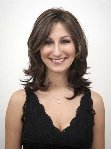 Capless Layered Good Synthetic Wig Mid Length