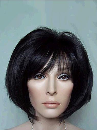 Straight Black 10 Inches Beautiful Synthetic Bob Hair Styled Wigs