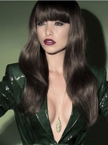Capless Wavy Long Black 22 Inches Flexibility Synthetic Wigs