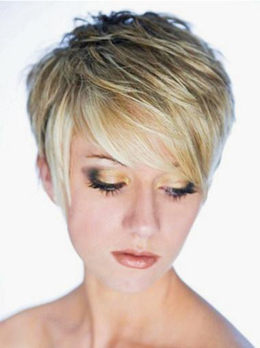 Blonde Straight Synthetic Blonde Wigs Short