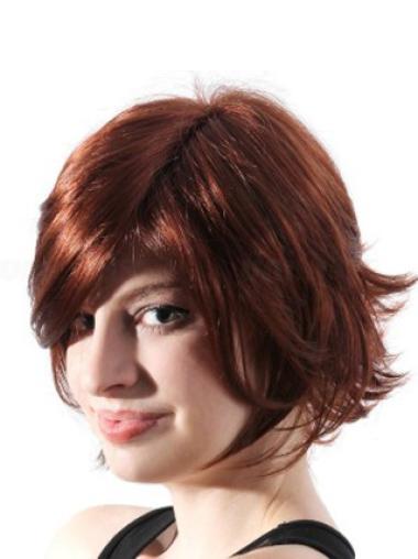 Layered Capless Medium Wavy Wig