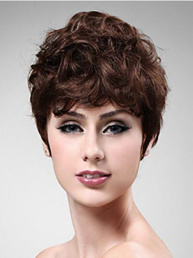 Wavy Cropped Auburn 8 Inches Exquisite Synthetic Realistic Capless Wigs