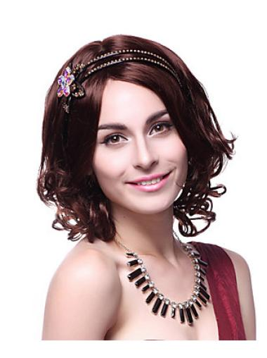 Layered 14 Inches Wavy Capless Gorgeous Synthetic Wig Styles For Women