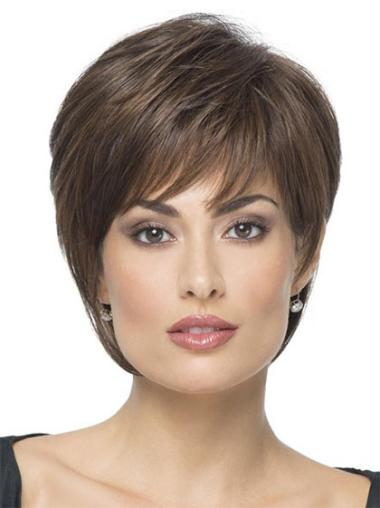 Discount Boycuts Brown Short Capless Synthetic Wig