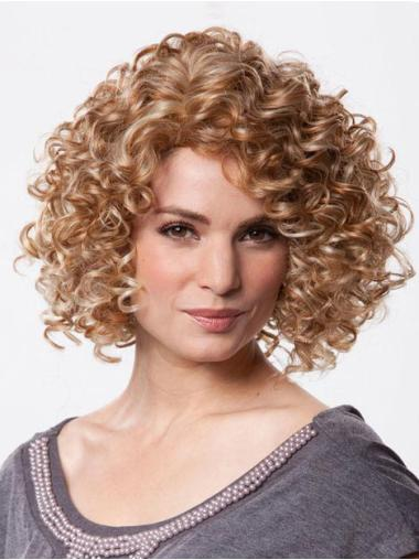 100% Hand-Tied Brown Without Bangs Chin Length Best Looking Synthetic Wigs