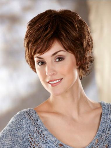 Perfect Wavy Short Synthetic Capless Wigs Brown