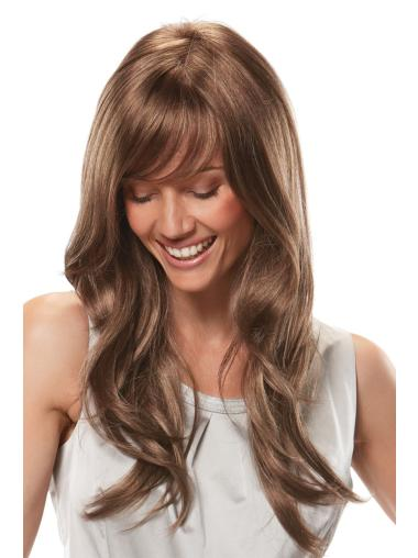 Amazing With Bangs Long Wavy 22 Inches Synthetic Wig With Front Lace