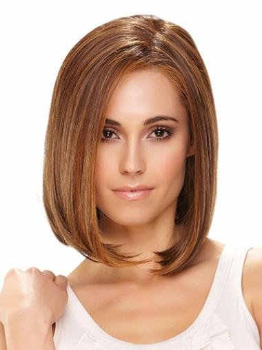 Straight Synthetic Chin Length Cheap Lace Front Bob Wigs