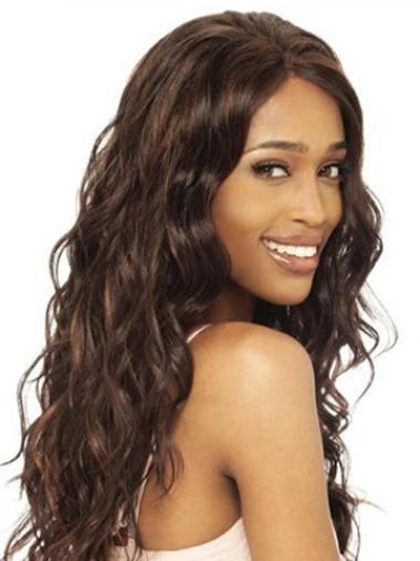 Wavy Brown Long Style African American Best Human Wigs For Black Women