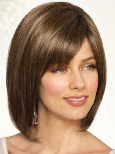 Fabulous Bobs Straight Brown Full Hand Tied Wig