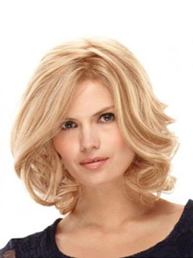 100% Hand-Tied Blonde Shoulder Length Best Quick Ship Lace Wigs
