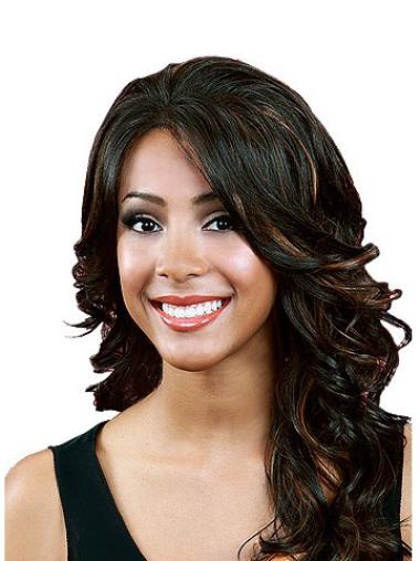 Long Front Lace Wigs For Black Women With Bangs