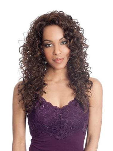 Brown Curly Synthetic Best Wigs Front Lace