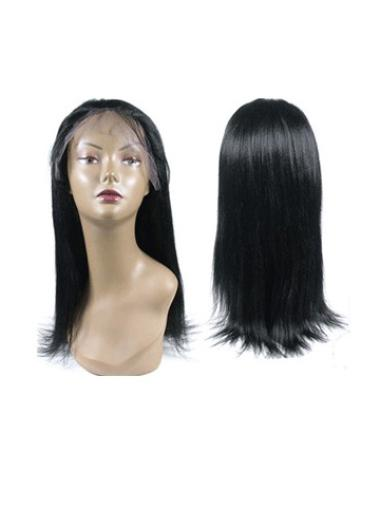 """14"""" Straight Without Bangs Black Flexibility Full Lace Human Hair Wigs"""
