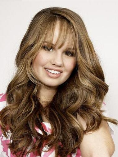 Wavy Brown Long Best Human Hair Wigs With Bangs
