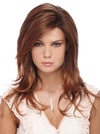 Auburn Shoulder Length Durable Medium Length Synthetic Wig