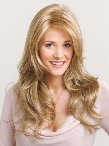 Synthetic Lace Front Wavy Great Long Blonde Wig