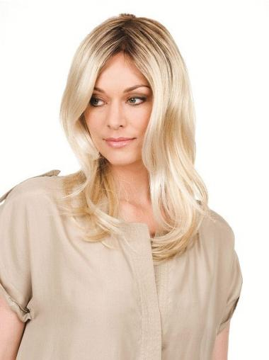 Wavy Synthetic No-Fuss Wigs Lace Front Long Blonde