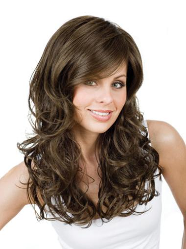 Brown Long Perfect Synthetic Wig Curly