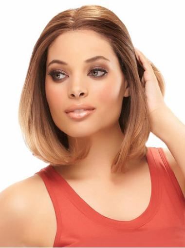 Auburn Straight Fashionable Bob Hair Wig Cap Human