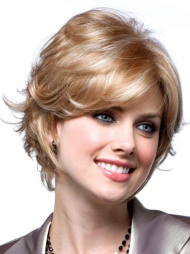 Wavy Synthetic Cheap Monofilament Wigs For Hair Loss