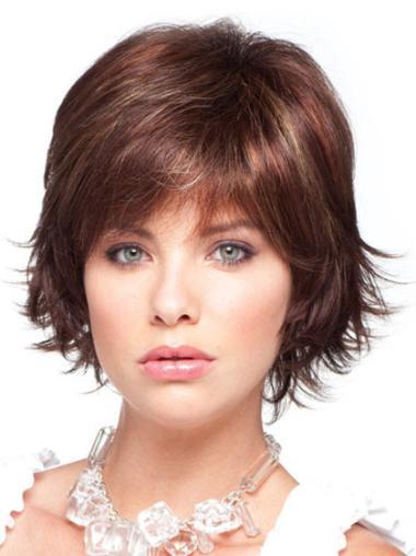 Beautiful Layered Straight Auburn Better Quality Synthetic Wigs