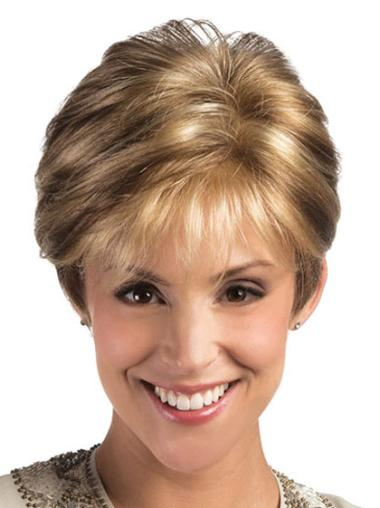 Fabulous Short Layered Lace Front Wigs For Elderly