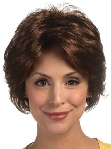 Synthetic Brown Classic Short Lace Front Wig