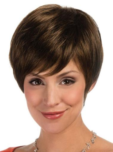 Synthetic Straight Boycuts Short Lace Front Synthetic Wigs