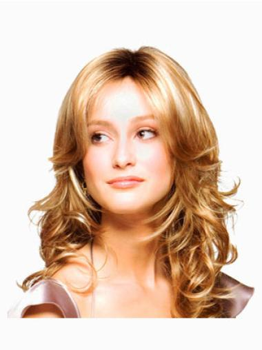 Wavy Long Top Blonde Synthetic Lace Wigs