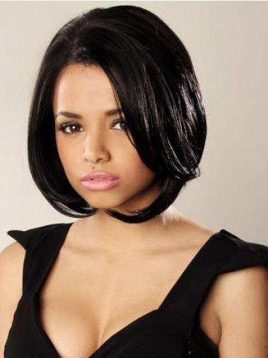 Wavy Black New Bob Best Synthetic Lace Front Wigs