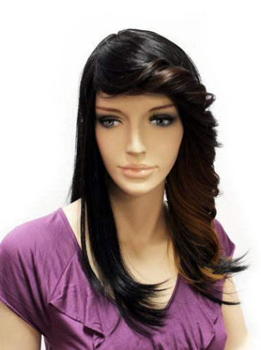 Perfect Synthetic Lace Front Straight Cheap Nice Long Wigs