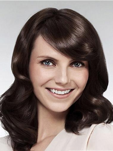Style Lace Front Wavy With Bangs Synthetic Cheap Nice Long Wigs