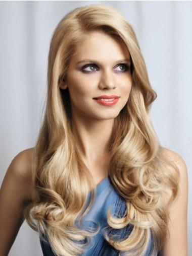 Fashion Lace Front Wavy Without Bangs Cheap Nice Long Wigs