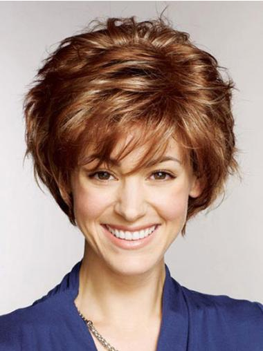 "10"" Stylish Layered Short 100% Hand Tied Human Hair Wigs"