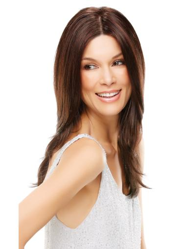 Auburn Without Bangs Straight Flexibility Synthetic Wig With Front Lace