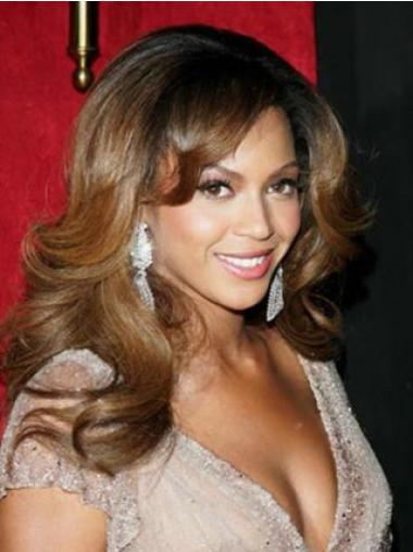 Brazilian Layered Long Wavy Beyonce Cheap Human Hair Full Lace Wigs