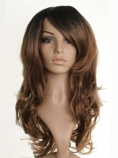 Capless Synthetic Amazing Long Brown Wig