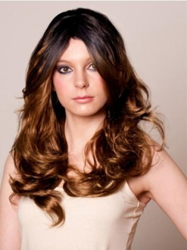 Celebrity Hair Wigs Layered Wavy Long Flexibility