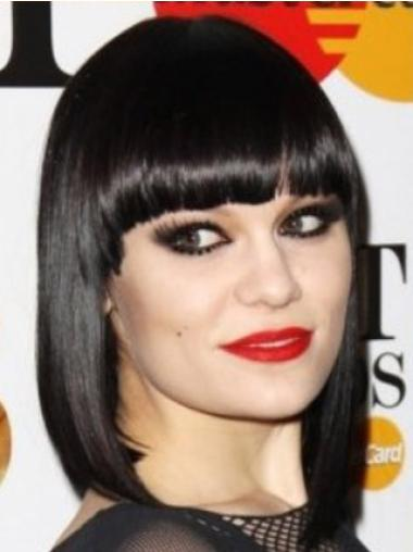 Black Shoulder Length 12 Inches Style Jessie J Wigs