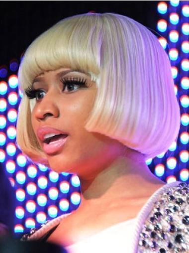 Capless Blonde Bobs Natural Nicki Minaj Wigs